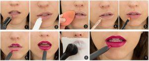 Вечерний макияж-губы