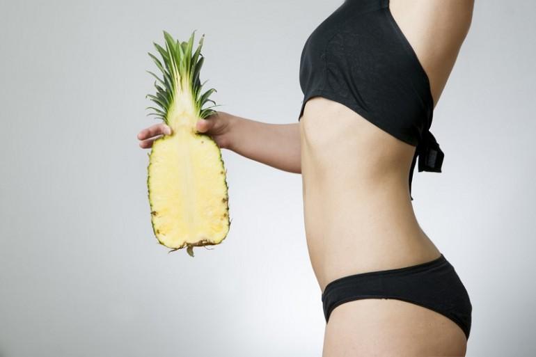 в ананасе содержится вещество для похудения