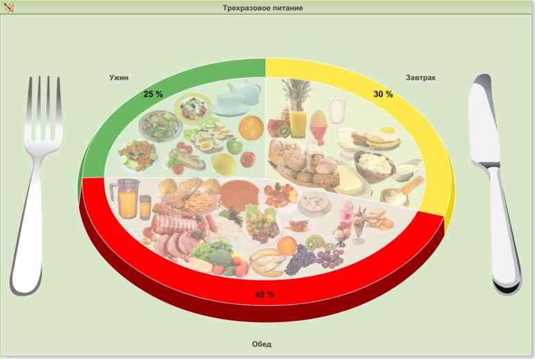 Как должна отличаться диета в первой и второй половине дня