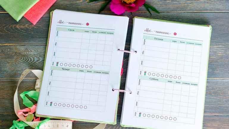 Как вести дневник питания тем, кто хочет похудеть быстрее